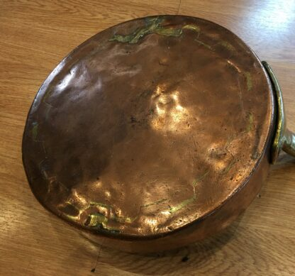 Large heavy Australian copper saucepan, by Dondey & Testro, Melbourne, 19th century-21176