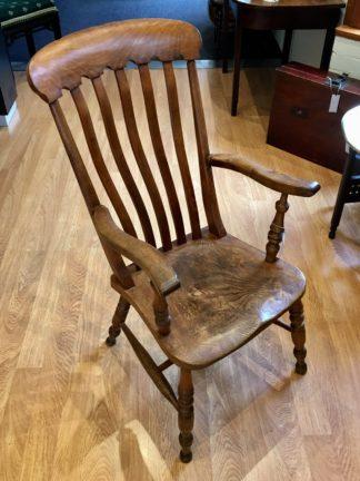 Victorian country elm armchair, circa 1860-0