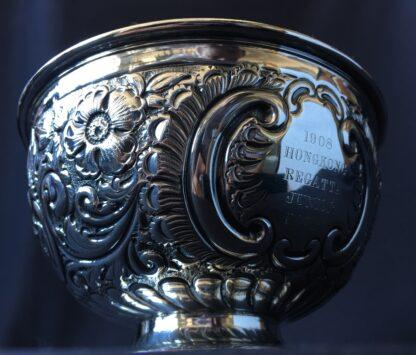 Sterling Silver trophy bowl, Hong Kong rowing 1908, Sheffield 1907-21441