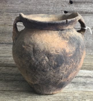 Chinese Neolithic pottery twin handled jar, Yangshao, 2,500 BC-0