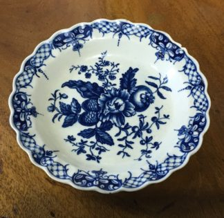Worcester small plate, printed Pinecone Pattern, C. 1770 -0