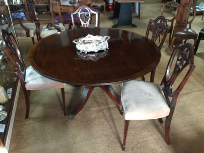 Large round mahogany table, French circa 1830-0