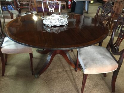Large round mahogany table, French circa 1830-22167