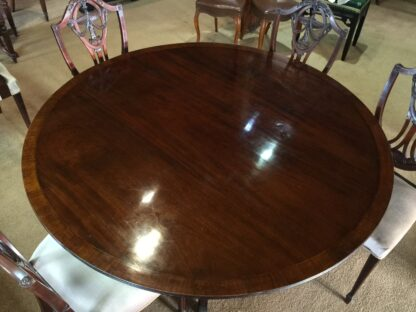 Large round mahogany table, French circa 1830-22160