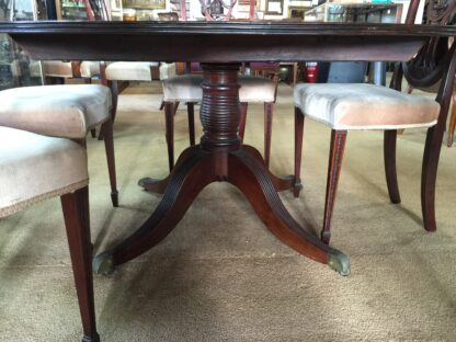 Large round mahogany table, French circa 1830-22165
