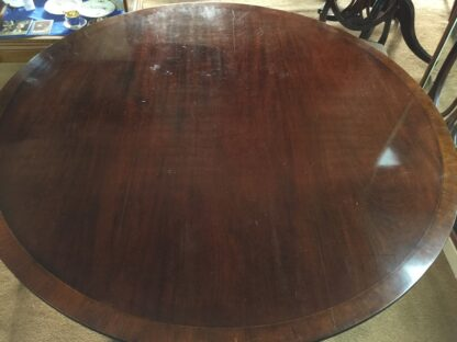 Large round mahogany table, French circa 1830-22155