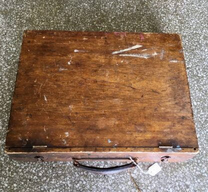 Original artists paint box, with contents, early 20th century -21490