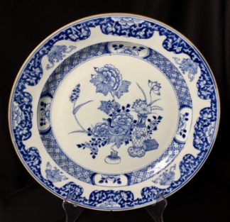Chinese porcelain charger, 'Precious Objects' & a duck, c. 1750 -0