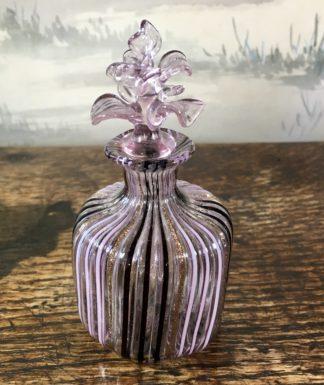 Venetian glass perfume bottle, erupting stopper, 20th century-0