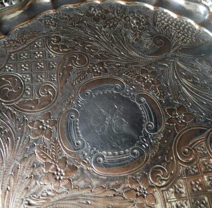 Old Sheffield plate salver, shell & scroll, circa 1820 -21841
