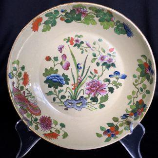 Wedgwood drabware dish, oriental flower pattern, c. 1810 -0