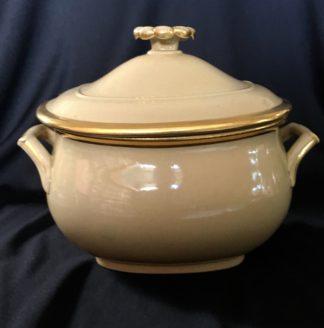 Wedgwood drabware sugar bowl & lid, c. 1820-0