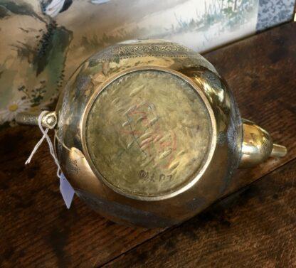 Damascus ware teapot, inlayed with silver, circa 1900 -22121