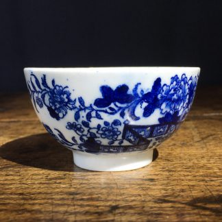 Worcester tea bowl, Fence Pattern, c.1780.-0