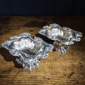 Pair of Old Sheffield Plate salts, c. 1825 -0