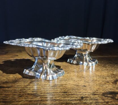 Pair of Old Sheffield Plate salts, c. 1825 -22225