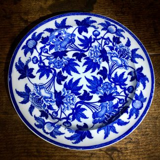 Wedgwood plate, printed with oriental foliage pattern, c. 1825-0