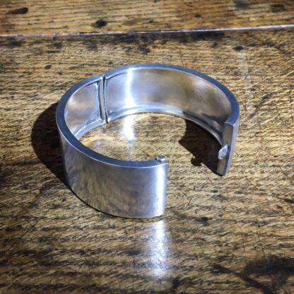 Victorian Silver cuff bracelet, 'Orange Blossom' enamels,Robinson's Patent c. 1875 -22299