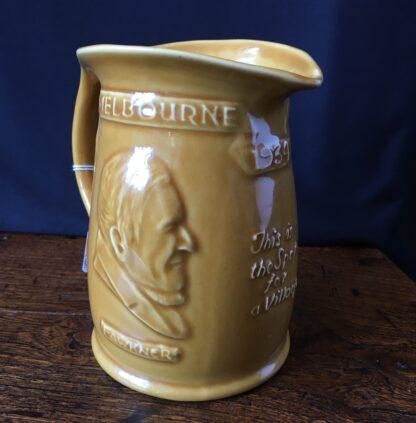 Hoffman Australian Pottery jug, 1934 Melbourne Centenary jug with Bateman & Fawkner-21714