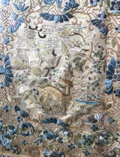 Chinese silk embroidery, birds & flowers, c. 1870-21773