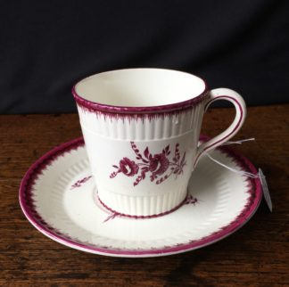 Wedgwood cup & saucer, puce prints in the 18th century style, 1872-0