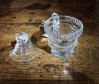 Regency glass custard cup & cover, c.1820-22661