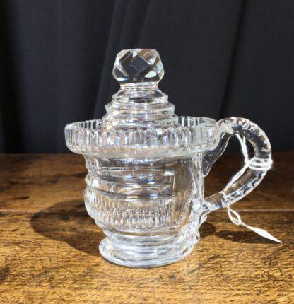 Regency glass custard cup & cover, c.1820-22658