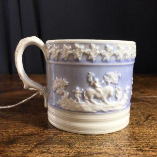 J & W Ridgeway blue ground porcelain mug, C. 1820 -0