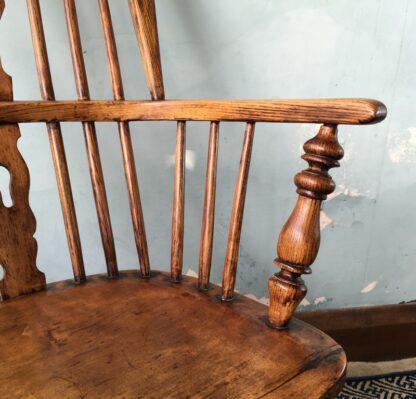 Elm Windsor arm chair, 19th century -22959