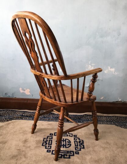 Elm Windsor arm chair, 19th century -22963