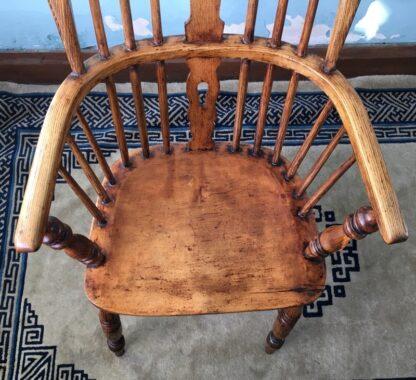 Elm Windsor arm chair, 19th century -24837