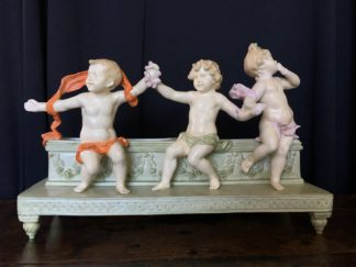 French figural 'Children' Jardiniere, by George Maxim, c.1910-0