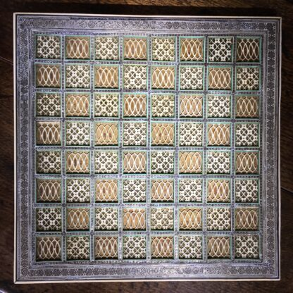 Anglo-Indian Sadeli work Chessboard, mid 19th century-22462