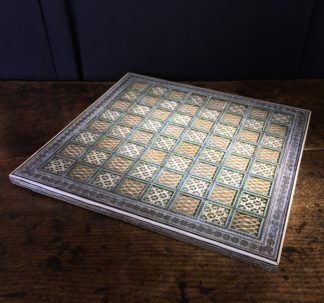 Anglo-Indian Sadeli work Chessboard, mid 19th century-0