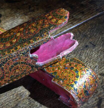 Persian lacquer 'Qalamdan' pen box, flowers, Qajar Iran, 19th century-22597