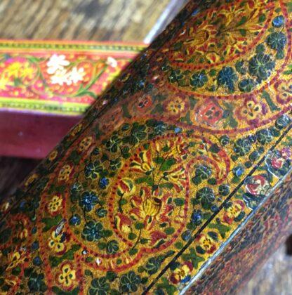 Persian lacquer 'Qalamdan' pen box, flowers, Qajar Iran, 19th century-22595