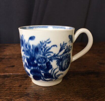 Worcester coffee cup 'three flowers' pattern, C. 1775 -22655