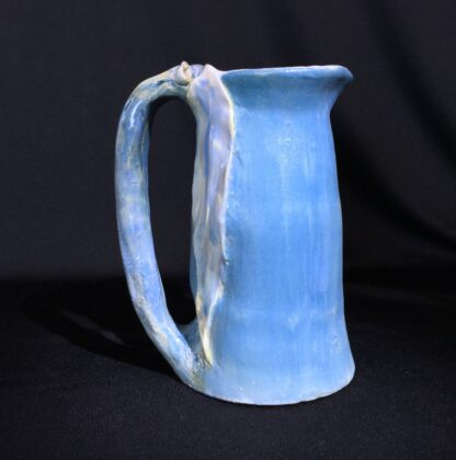Philippa James gumnut jug, blue with large leaves, c. 1930-22639