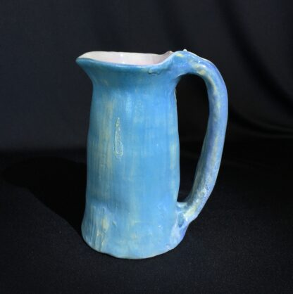 Philippa James gumnut jug, blue with large leaves, c. 1930-22641