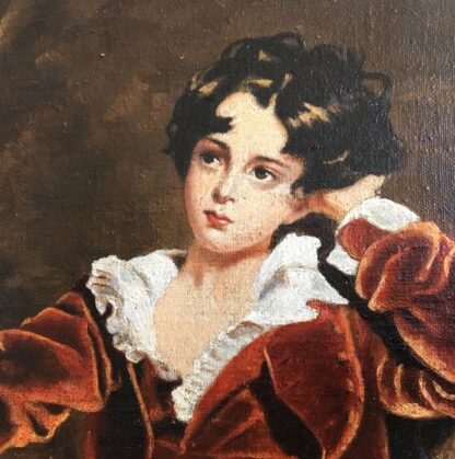 "20th C. oil copy of ""The Red Boy"" after Sir Thomas Lawrence -22698"