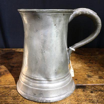 Victorian Pewter pint tankard, 19th century-0