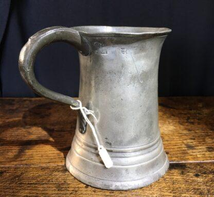 Victorian Pewter pint tankard, 19th century-22414