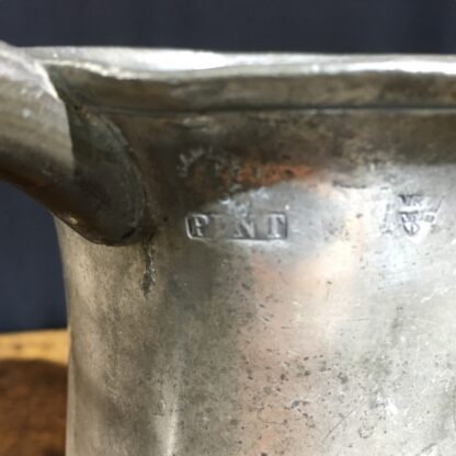 Victorian Pewter pint tankard, 19th century-22412