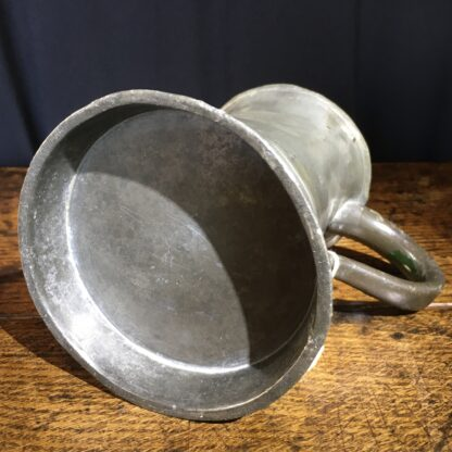 Victorian Pewter pint tankard, 19th century-22416