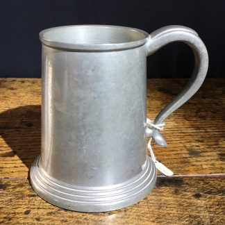 Australian made pewter tankard, glass bottom , 20th century-0