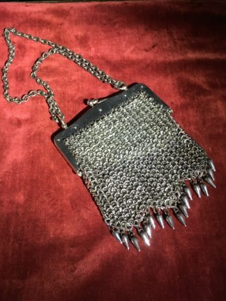French cut steel 'chain mail' evening bag, C. 1930 -0