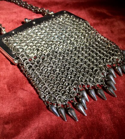 French cut steel 'chain mail' evening bag, C. 1930 -22784