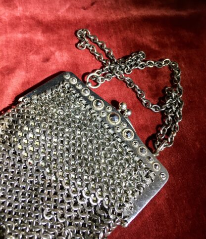 French cut steel 'chain mail' evening bag, C. 1930 -22783