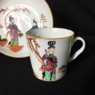 Chamberlains Worcester cup & saucer, C.1796-8-0