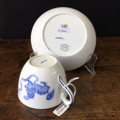 Wedgwood bone china cup and saucer, Chinese foo dog prints, C. 1815 -23603